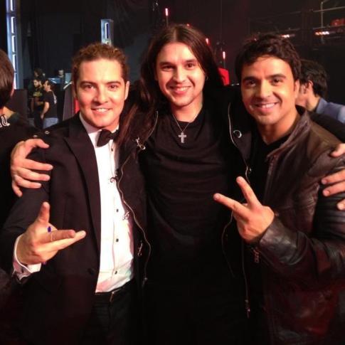 Bisbal, Luis Fonsi y el ganador Rafa